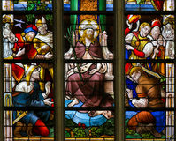Stained Glass - Ecce Homo Stock Photo