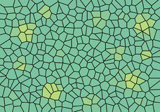 Stained Glass Effect Green Wallpaper Background Stock Image
