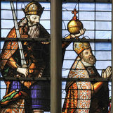 Stained Glass - Emperor Charles V Stock Image