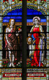 Stained Glass of Eve and Judith Royalty Free Stock Photos