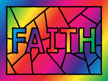 Stained Glass Faith Royalty Free Stock Image