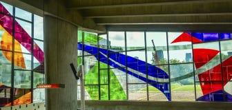 Stained-glass Ferron Marcelle παράθυρα (1968) Στοκ Φωτογραφίες
