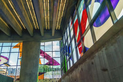 Stained-glass Ferron Marcelle παράθυρα (1968) Στοκ εικόνα με δικαίωμα ελεύθερης χρήσης