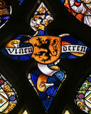 Stained Glass - Flemish Lion Royalty Free Stock Photos