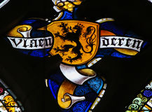 Stained Glass - Flemish Lion Stock Photography