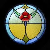 Stained Glass Flower. A stained glass window of a flower Royalty Free Stock Photos