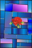 Stained glass and flower Stock Photos