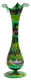 Stained Glass Flower Vase. Tall Multi Color Stained Glass Flower Vase stock photography