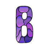 Stained glass font, letter b Stock Image