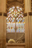 Stained glass of Founder's Chapel Royalty Free Stock Photography