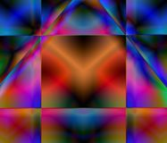 Stained Glass Fractal. A computer generated stained glass-like fractal Royalty Free Stock Image