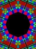 Stained Glass Frame Royalty Free Stock Photos