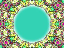 Stained Glass Frame Royalty Free Stock Image