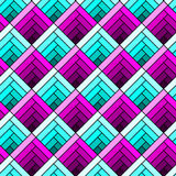 Stained glass geometric squares seamless pattern Royalty Free Stock Image