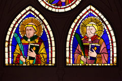 Stained Glass By Giotto - Saint Deacon Martyr Stock Photo