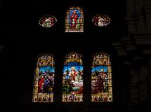 Stained Glass, Glass, Window, Material stock images