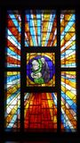 Stained Glass, Glass, Window, Material royalty free stock image