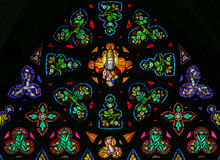 Stained Glass - God in Heaven royalty free stock images
