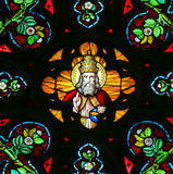 Stained Glass - God in Heaven Stock Photo