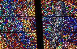 Stained Glass - God in Heaven royalty free stock image