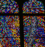 Stained Glass - God in Heaven Royalty Free Stock Photos