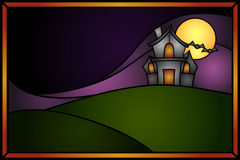 Stained glass haunted house Stock Photos