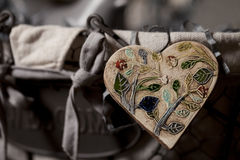 Stained glass heart Stock Photography