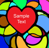 Stained glass with heart . Colorful stained glass with heart Royalty Free Stock Photography
