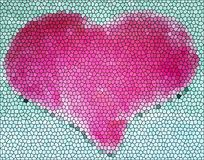 Stained Glass Heart Royalty Free Stock Photo