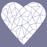 Stained glass heart Royalty Free Stock Images