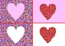 Stained glass hearts - cdr format stock photo