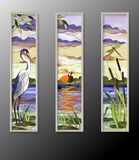 Stained glass with heron Royalty Free Stock Images