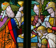 Stained Glass - Holy Communion Stock Images