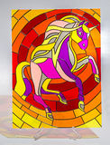 Stained glass - horse Stock Photos