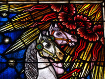 Stained glass horses Stock Image