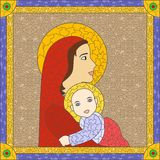 Stained glass icon Stock Photo