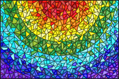 Stained glass illustration Abstract  background , the colored elements arranged in rainbow spectrum Royalty Free Stock Photo