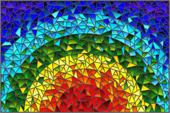 Stained glass illustration Abstract  background , the colored elements arranged in rainbow spectrum Royalty Free Stock Image