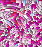 Stained glass illustration Abstract mosaic background of colored tiles ,pink gamma Royalty Free Stock Photography