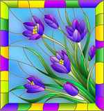 Stained glass illustration Stock Photo