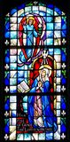 Stained glass image of the Annunciation. Taken at St Rita Church in New Orleans, LA royalty free stock images