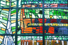 Stained glass. Image of a multicolored stained glass window royalty free stock photo