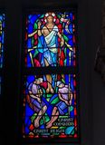 Stained Glass image of the Resurrection royalty free stock image