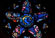 Free Stained Glass In Exeter Cathedral, Lady Chapel Window Tracery Li Royalty Free Stock Photography - 105284867
