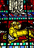 Stained Glass inside a Church Royalty Free Stock Images