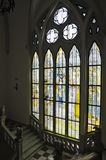 Stained glass inside the Culture Palace, Iasi Stock Photo