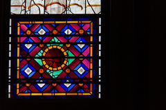 Stained glass inside the historic York Minster in York, UK Stock Photography