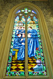 Stained glass Inside Interior a Catholic Royalty Free Stock Photography