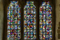 Stained glass inside the Tower of London Royalty Free Stock Photo