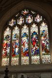 Stained glass in interior of Bath Abbey. Interior of Bath Abbey (The Abbey Church of Saint Peter and Saint Paul, Bath Royalty Free Stock Photography